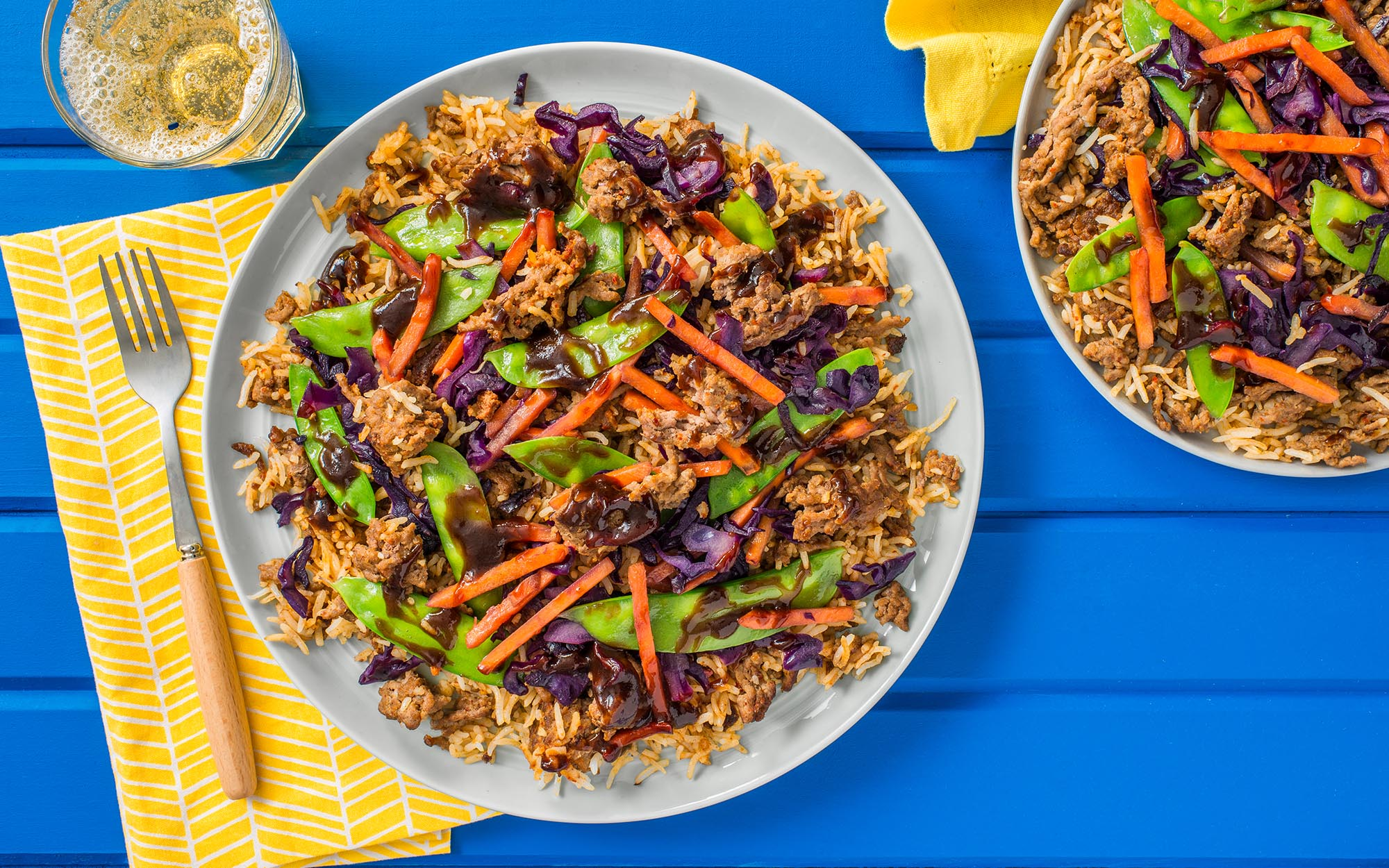 Asian Beef & BBQ Fried Rice