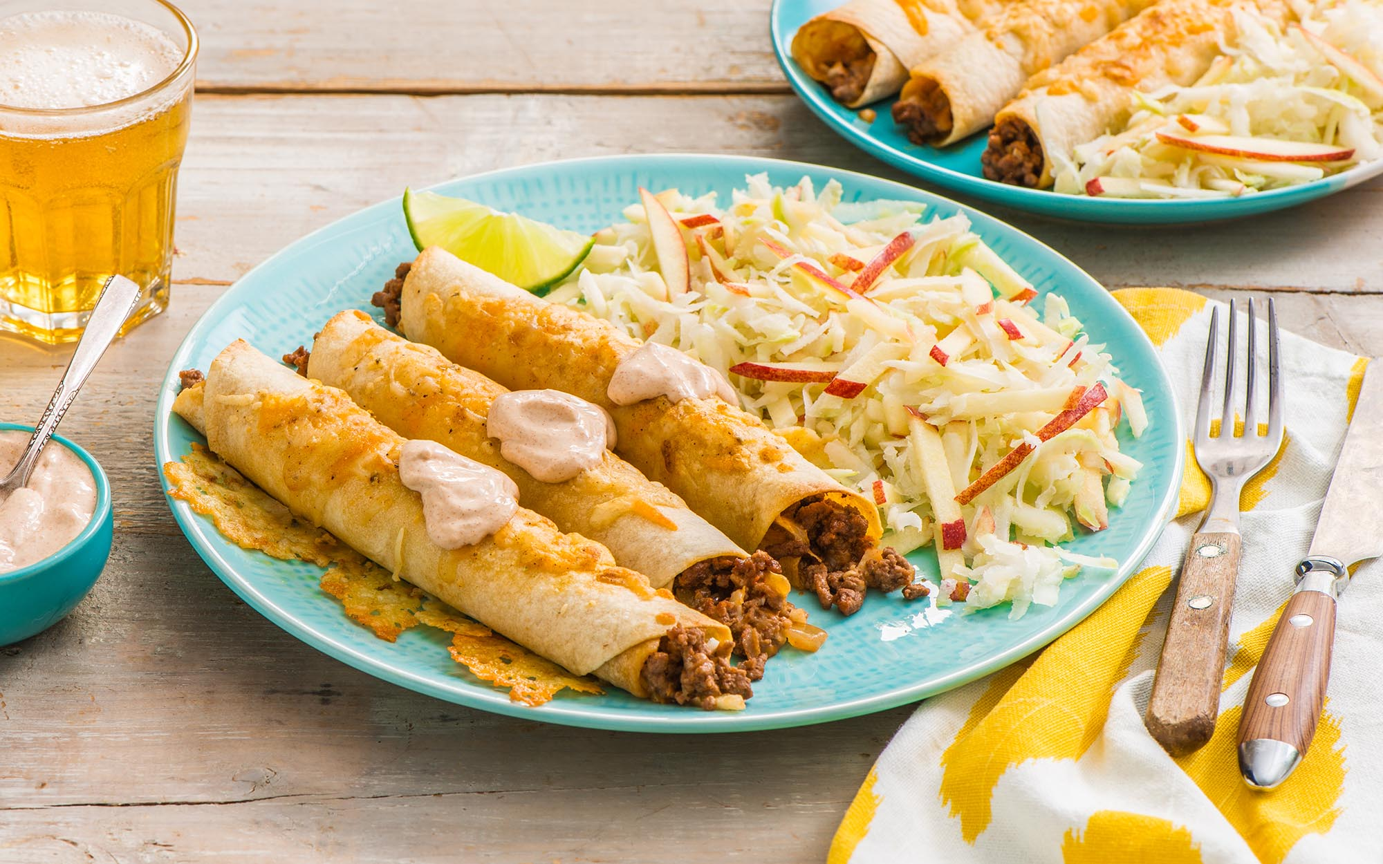 Spiced Beef and Cheese Taquitos